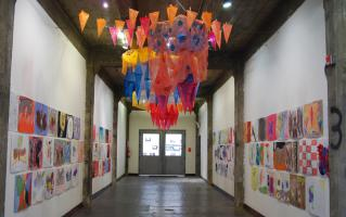 Like a Moth to a Flame, installation by Leah Reynolds
