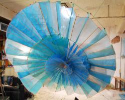 T's Wheel, sculpture by Leah Reynolds